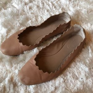 5ec17adc5 Chloe Shoes | Chlo Pink Tea Nude Lauren Scalloped Ballet Flat | Poshmark